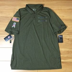 Nike Salute To Service Green Bay Polo Shirt